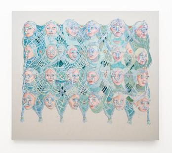 Marlene Steyn   We've weaved myselves   2018   Oil on Canvas   160 x 140 cm