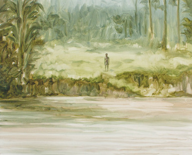 Jake Aikman   N10.856993, W85.774132   2013   Oil on Paper   31 x 40 cm
