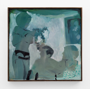 Kate Gottgens | Trio (Suspender) | 2018 | Oil on Canvas | 62 x 62 cm