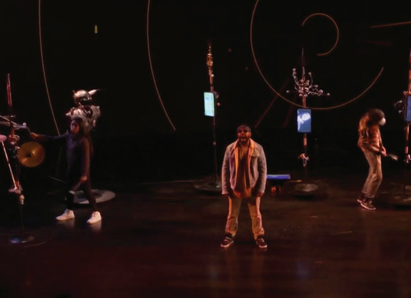 Masimba Hwati | Mbende /Jerusarema Tehkno | 2018 | Film Still of Video Documentation of Dance Performance Duderstadt Video Studio, University of Michigan Ann Arbor, USA
