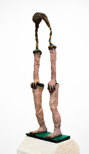 Marlene Steyn | All she wanted was to be a flying buttress | 2015 | Painted Bonze | 40 x 16 x 6 cm | Edition of 10