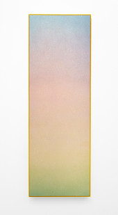 Rosie Mudge | To burn my skin | 2020 | Automotive Paint and Glitter Glue on Canvas | 182 x 62 cm