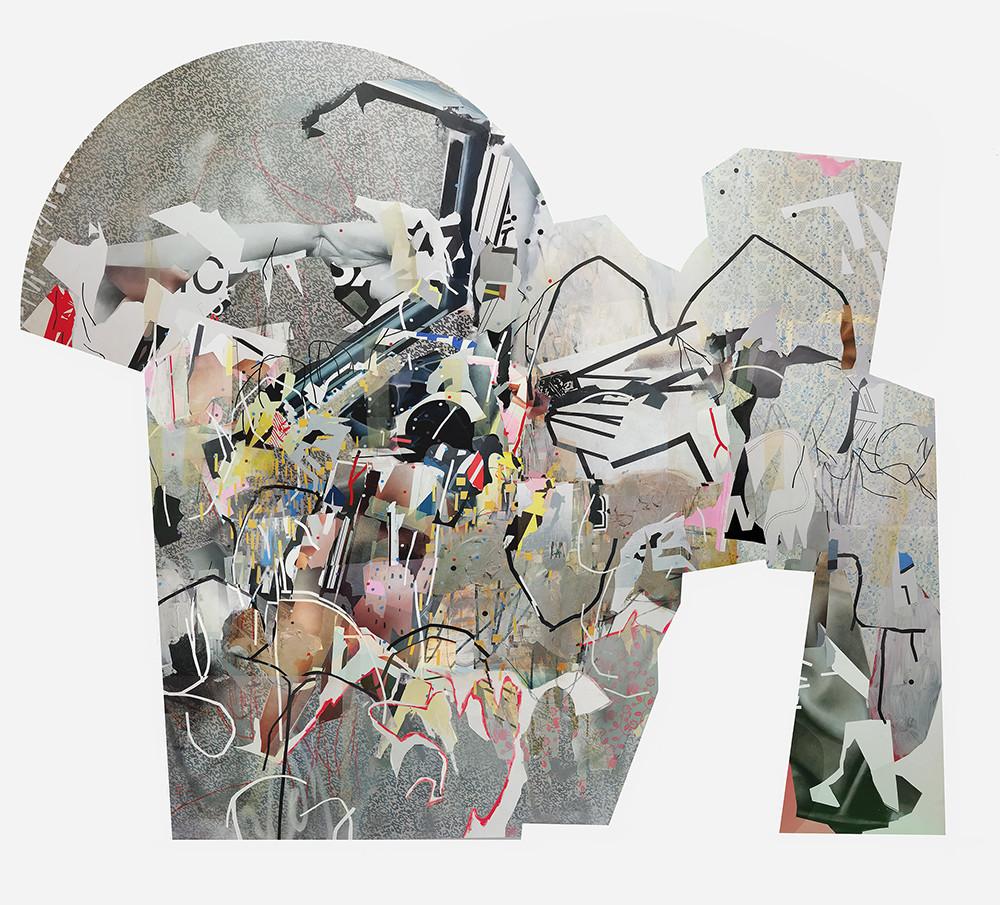 Asha Zero | klmno | 2020 | Acrylic on Board | 190 x 220 cm