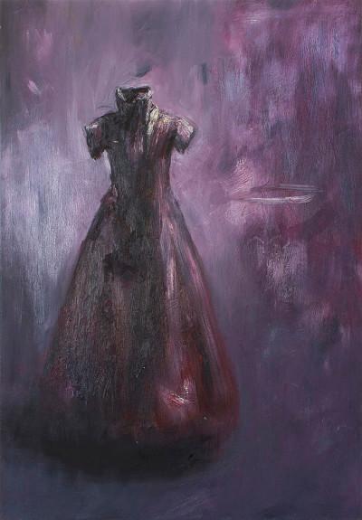 Johann Louw | Rooi Rok - Klein Frontaal | 2015 | Oil on Linen | 129 x 90 cm