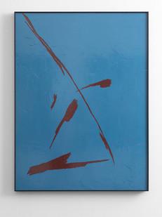 Peter Eastman | Small Shadow III | 2016 | Enamel on Aluminium | 98 x 73 cm