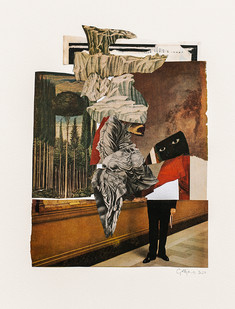 Kate Gottgens   The Museum of Invisible History   2020   Collage on Paper   77 x 57 cm