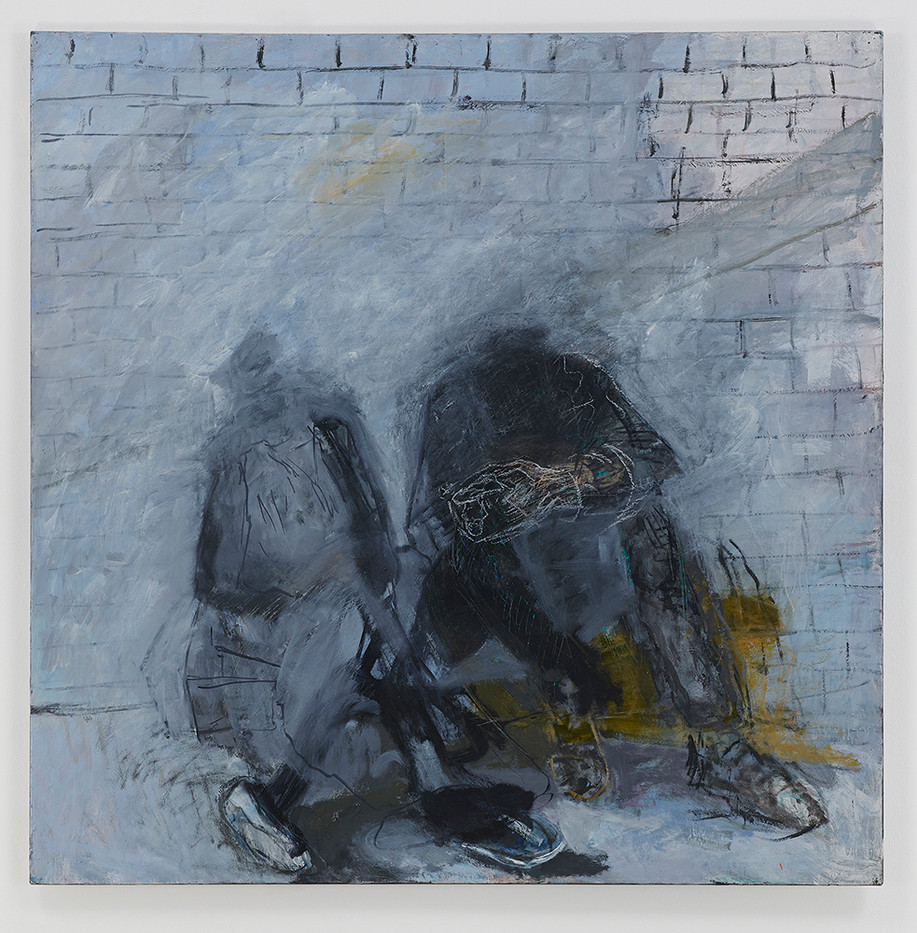 Albert Adams | Man and Woman at Rondebosch Fountain | 2001-2002 | Oil on Canvas | 153 x 153 cm