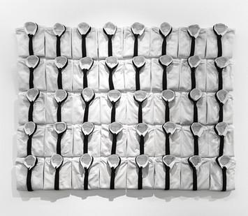 Jody Paulsen | Future Lovers | 2017 | 40 Felt Shirts and Ties | 187 x 237 cm