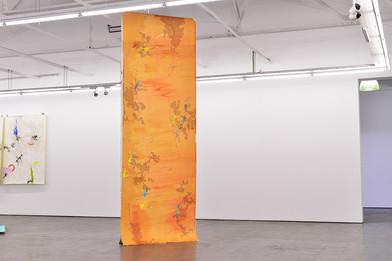 Mongezi Ncaphayi | Walk With Me | 2017 | Indian Ink and Mixed Media on Paper | 397 x 140 cm