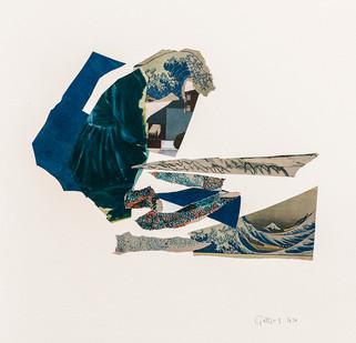 Kate Gottgens   Haiku (Wave)   2020   Collage on Paper   76 x 57 cm