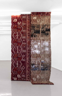 Sepideh Mehraban | Nomad | 2021 | Mixed Media on Canvas | 342 x 90 cm Each