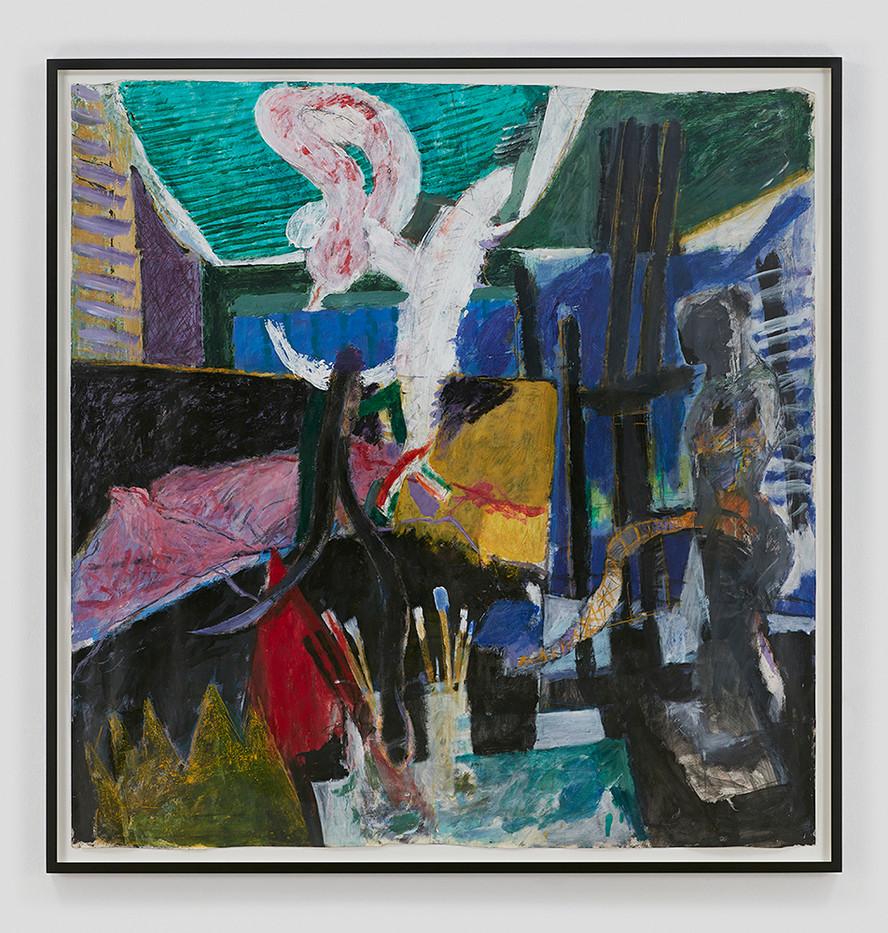 Albert Adams | Studio Delancey Street | 2000 | Oil on Canvas | 160 x 155 cm