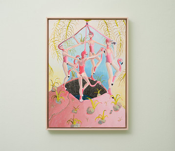 Marlene Steyn   Twitchers of flamboyance   2018   Oil on Canvas   70 x 50 cm