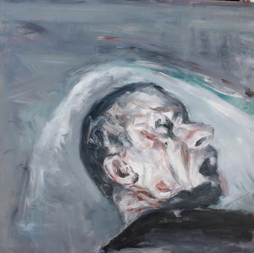 Johann Louw | Kop | 2013 | Oil on Plywood | 122 x 123 cm