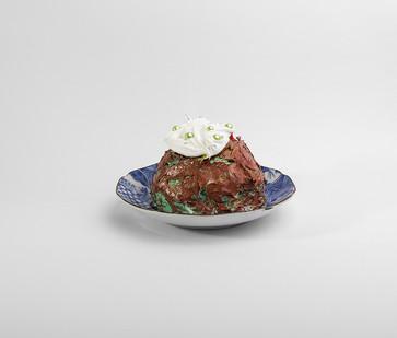 Georgina Gratrix | Mint Cupcake | 2016 | Oil on Ceramic | Dimensions Variable
