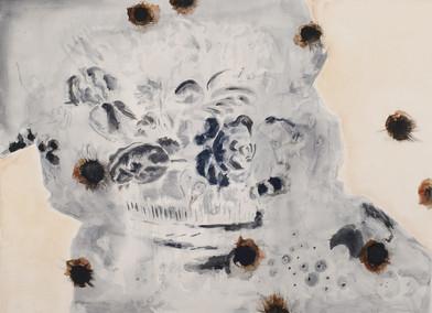 Uwe Wittwer | Stilleben Negativ Nach Mignon (Still Life Negative After Mignon) | 2012 | Watercolour on Paper | 57 x 76 cm