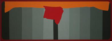 Trevor Coleman | Tantra | 1975 | Acrylic on Canvas | 77 x 179 cm