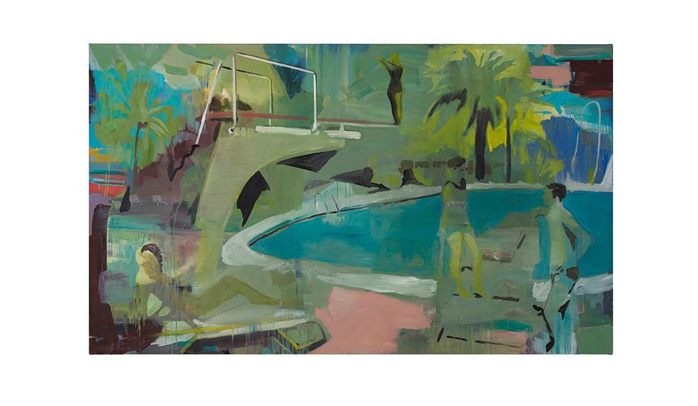 Kate Gottgens   Poolside   2017   Oil on Canvas   130 x 220 cm