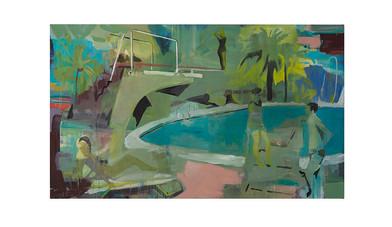 Kate Gottgens | Poolside | 2017 | Oil on Canvas | 130 x 220 cm