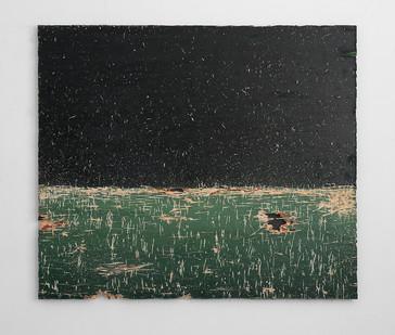 Jake Aikman | Clearing | 2017 | Oil on Board | 112 x 131 cm