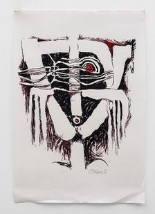 Cecil Skotnes | Mask | 1970 | Serigraph | 77 x 51 cm