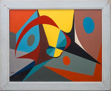Albert Newall | Untitled | 1952 | Acrylic on Canvas | 55 x 70 cm