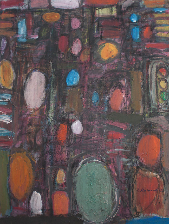 David Koloane | Night Rythm | 2012 | Mixed Media on Canvas | 102 x 75 cm