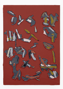 Gabrielle Kruger | Pressings | 2020 | Acrylic on Board | 30 x 21 cm