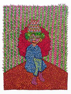 Jody Paulsen | Birthday Girl | 2020 | Felt Collage | 204 x 155 cm