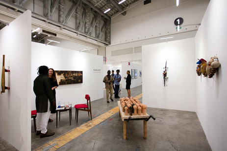 Investec Cape Town Art Fair | TOMORROWS/TODAY | Masimba Hwati | Don't Worry Be Happy | 2016 | Installation View