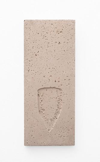 Usha Seejarim   Pressed 07   2021   Cement   57 x 23 x 3 cm