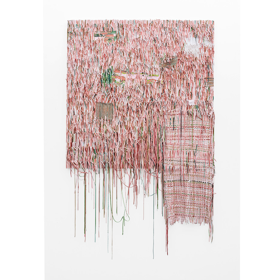 Gabrielle Kruger | Weaving Into | 2019 | Acrylic Paint Extending a Board | 205 x 130 x 10 cm