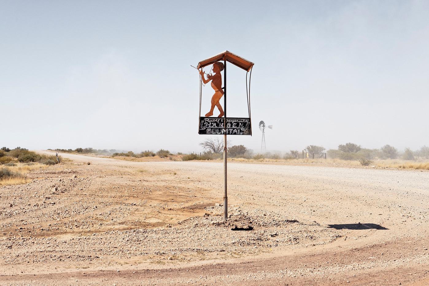 Margaret Courney-Clarke | Boumtal farm entrance,Witpan, D614 Kalahari, Namibia | Giclée Print on Photo Rag Baryta Paper | 50 x 75 cm  | Edition of 6 + 2 AP