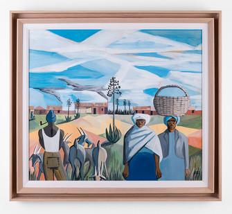 Peter Clarke | African Pastoral | 1960 | Gouache on Paper | 45 x 52 cm