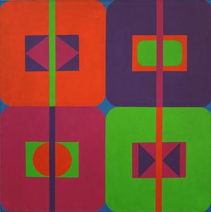 Trevor Coleman | Quartet | 1971 | Acrylic on Canvas | 92 x 92 cm