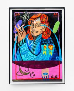 Callan Grecia   Crying in the Club   2021   Acrylic on Paper   84 x 59.5 cm
