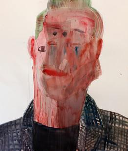 Georgina Gratrix | Metro Man | 2012 | Watercolour on Paper | 150 x 120 cm