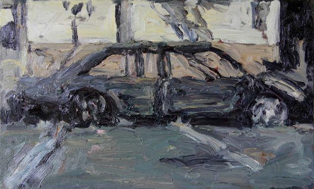 Anton Karstel | Kerskstraat-Bom | 2015 | Oil on Canvas | 38 x 62 cm