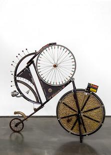 Cyrus Kabiru | The Black Jack | 2017 | Steel and Found Objects | 150 x 150 x 25 cm
