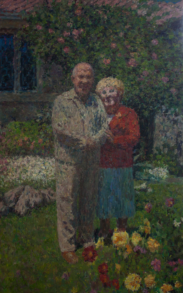 Anton Karstel | Pieter en Elize | 2014 | Oil on Canvas | 270.5 x 170 cm