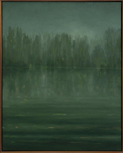 Jake Aikman | Meet Me By The River (Dnieper River) | 2017 | Oil on Canvas | 50 x 40 cm