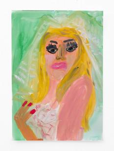 Georgina Gratrix | Reluctant Bride (Study) | 2018 | Watercolour on Paper | 38 x 28 cm