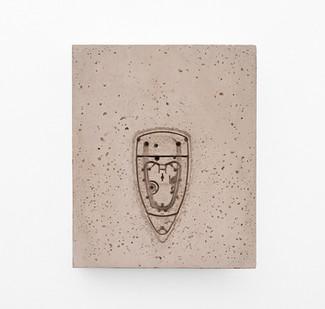 Usha Seejarim | Pressed 04 | 2021 | Cement | 46 x 37 x 5 cm