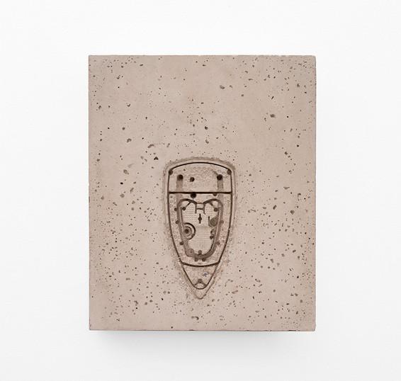 Usha Seejarim   Pressed 04   2021   Cement   46 x 37 x 5 cm