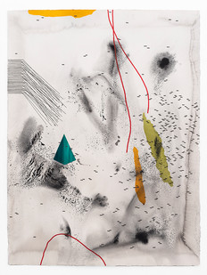 Mongezi Ncaphayi | Perpetual Optimism XI | 2019 | Indian Ink and Watercolour on Cotton Paper | 75.5 x 56 cm
