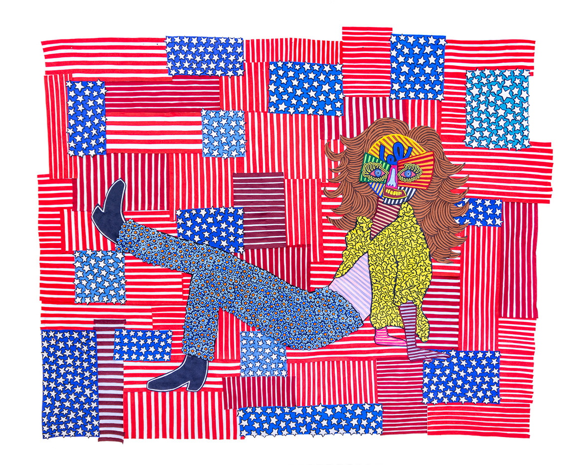 Jody Paulsen | American Woman | 2020 | Felt Collage | 190 x 240 cm