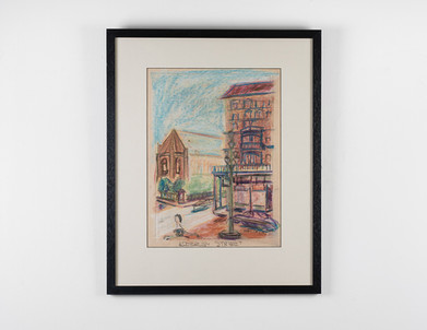 Charles Gassner   Adderley Street   n.d.   Pastel on Paper   42 x 32 cm