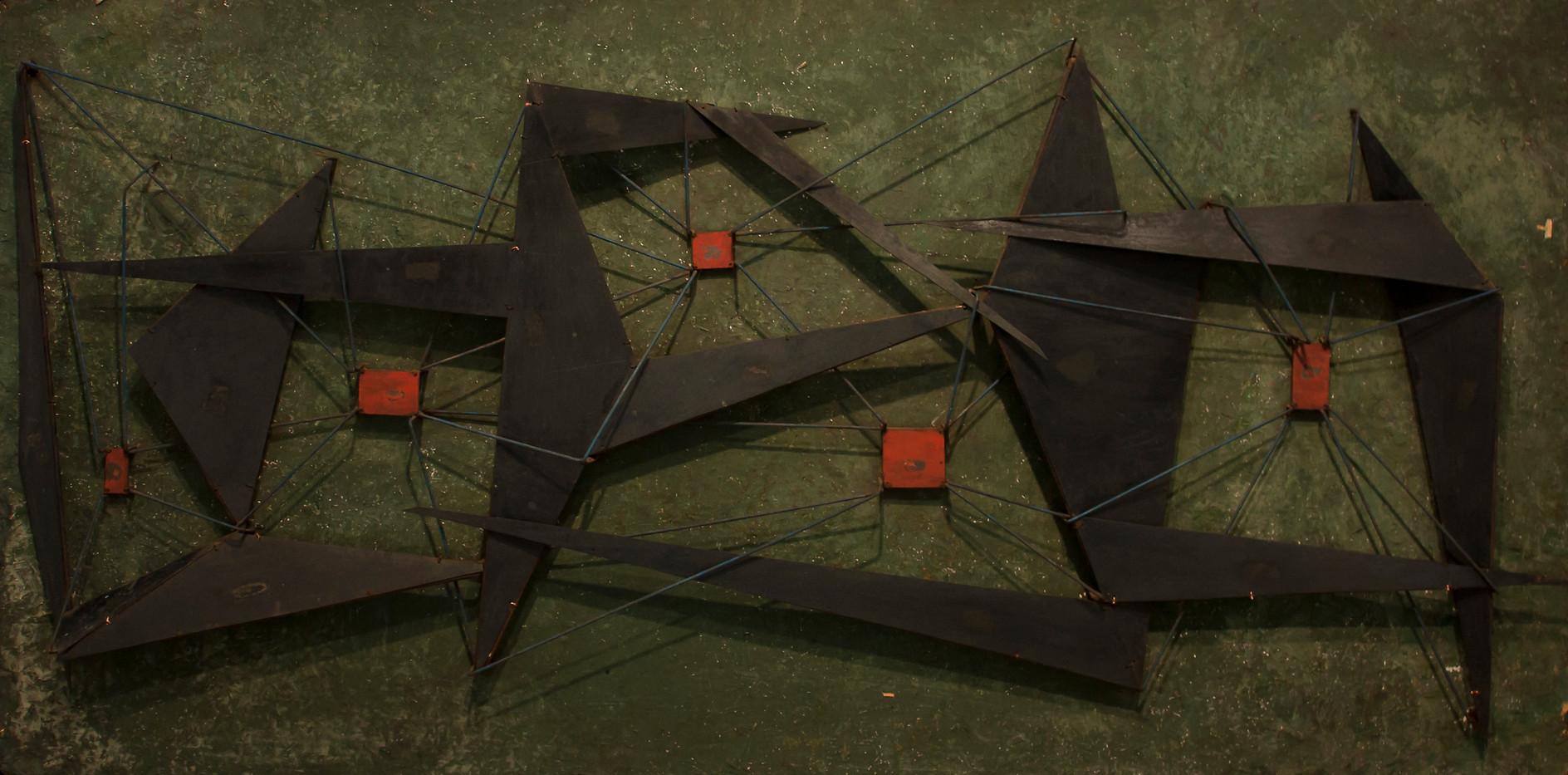 Edoardo Villa | Untitled | n.d. | Steel on Board | 46.5 x 92 cm