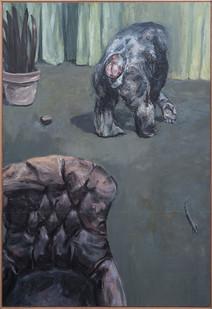 Johann Louw | In die Voorkamer | 2017 | Oil on Panel | 177 x 122 cm