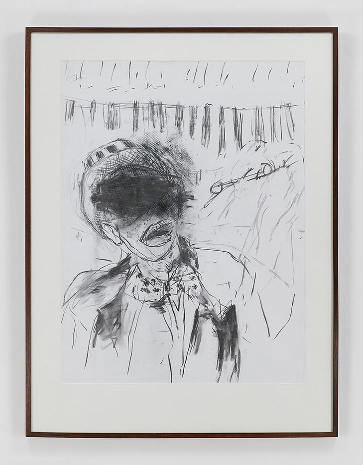 Albert Adams | Portrait of a Man (Celebration Series) | 2001 | Charcoal on Paper | 100 x 75 cm